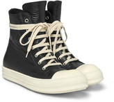 Rick Owens - Ramones Cap-toe Leather High-top Sneakers