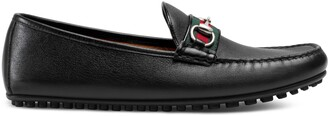 Gucci Leather driver with Web