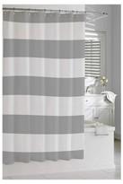 Kassatex Hampton Stripe Shower Curtain - Grey