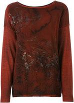 Avant Toi patterned jumper - women - Cashmere/Silk - XS