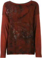 Avant Toi patterned jumper - women - Silk/Cashmere - XS