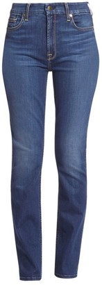 JEN7 by 7 For All Mankind Mid-Rise Slim-Fit Straight Leg Jeans