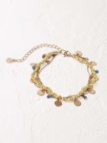 White Stuff Silk road mini disc bracelet