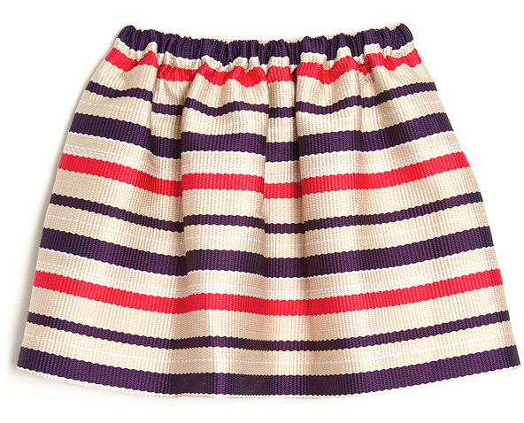 MSGM Stripe Flare Skirt