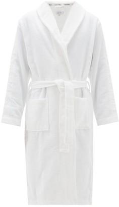 Calvin Klein Underwear Logo-jacquard Cotton-terry Bathrobe - White