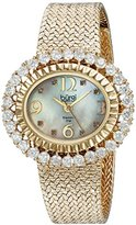 Burgi Women's BUR075YG Mother-Of-Pearl Diamond Mesh Bracelet Watch