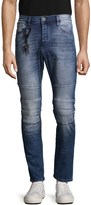 Antony Morato Men's Faded & Whiskered Cotton Jeans