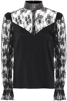 Christopher Kane Embellished lace blouse