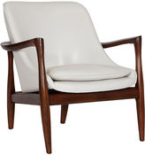 Worlds Away Joan Accent Chair, White