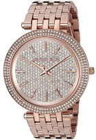 Michael Kors Darci MK3439 Rose Gold Stainless Steel with Rose Gold Dial 39mm Womens Watch