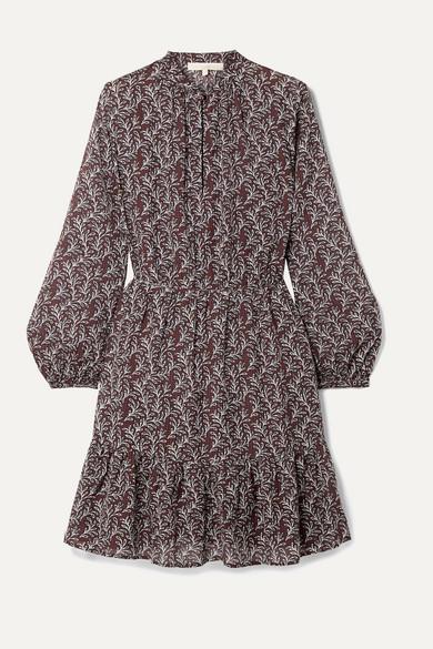 Vanessa Bruno Manuela Printed Gauze Mini Dress - Purple