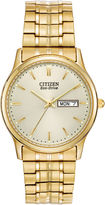 Citizen Eco-Drive Mens Gold-Tone Dress Watch BM8452-99P