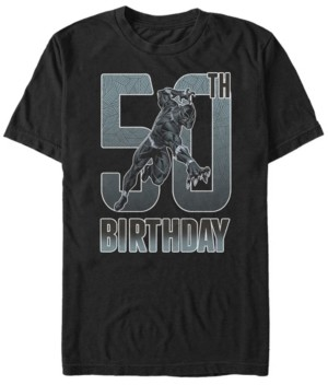 Marvel Fifth Sun Men's Black Panther 50th Birthday Short Sleeve T-Shirt