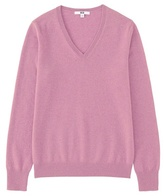 Women 100% Cashmere V Neck Sweater