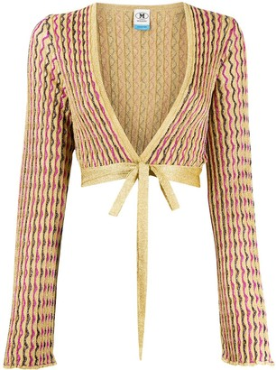 M Missoni Cropped Knit Cardigan