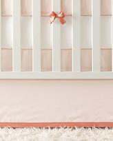 Serena & Lily Banded Linen Crib Skirt