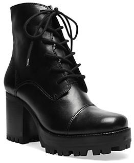 Schutz Women's Jeannie Lace Up High Heel Booties