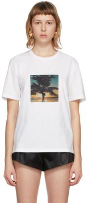Saint Laurent White VHS Sunset T-Shirt