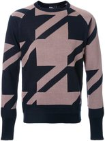 Kolor patterned jumper - men - Paper/Wool - 3
