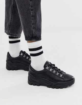 New Look cleated chunky trainers in black