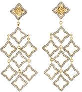 David Yurman Diamond Quatrefoil Chandelier Earrings