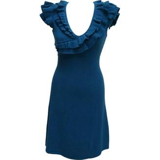 Catherine Malandrino Blue Cashmere Dress for Women