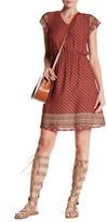 Angie Short Sleeve Print Dress