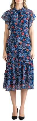 Shoshanna Thalia Floral Midi Dress