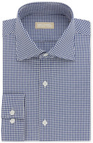 Michael Kors Men's Slim Fit Non-Iron Blue Check Dress Shirt
