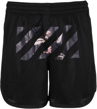 Off-White Caravaggio Arrow Mesh Shorts