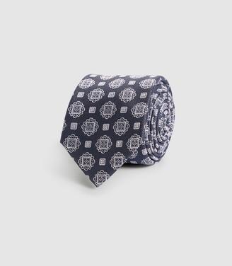 Reiss Bert - Silk Patterned Tie in Charcoal