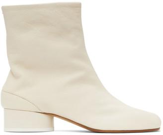 Maison Margiela Off-White Tabi Vintage Boots