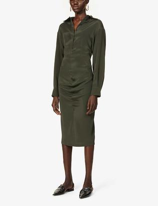 Sportmax Ninfa silk-blend midi dress