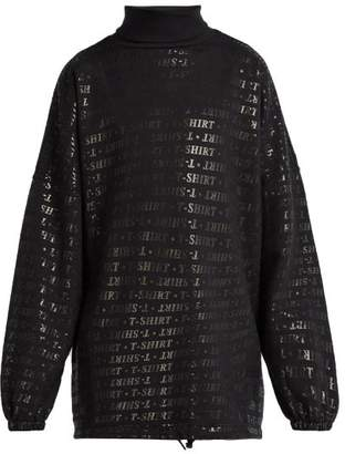 Balenciaga Oversized Printed Cotton Blend Sweatshirt - Mens - Black