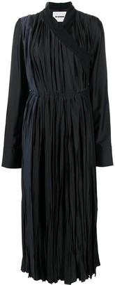 Jil Sander Wraparound Pleated Dress