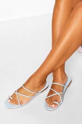 boohoo Toe Post Strappy Sandals