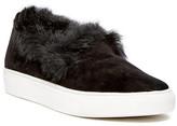 Rachel Zoe Burke Genuine Rabbit Fur Trim Sneaker