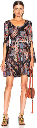 Chloé Persian Print Dress in Multicolor Black | FWRD