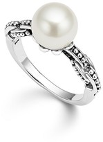 Lagos Sterling Silver Luna Cultured Freshwater Pearl Link Ring