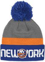 Reebok Adult New York Islanders Cuffed Pom Knit Hat