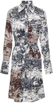 Victoria Victoria Beckham Printed Twill Shirt Dress