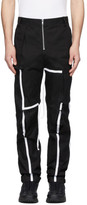 Spencer Badu Black Strap Cargo Pants