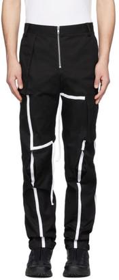 Spencer Badu Black Strap Cargo Pants