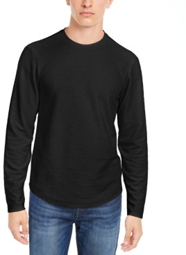GUESS Linear Textured Pullover T-shirt