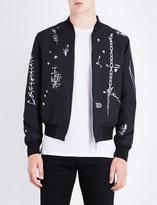 Alexander McQueen Safety pin woven bomber jacket