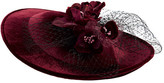 San Diego Hat Company Women's Velvet Sun Hat with Flower DRS3558