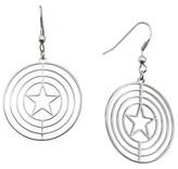Marvel Women's Captain America Shield Logo Stainless Steel Dangle Earrings