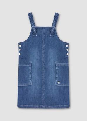 Mint Velvet Blue Denim Dungaree Dress