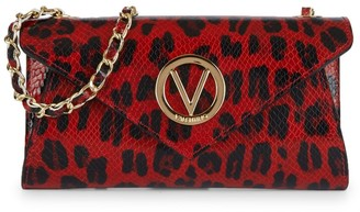 Mario Valentino Tatin Animalier Leather Envelope Crossbody Bag
