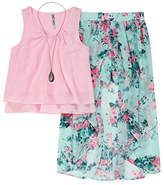 Knitworks Knit Works Chiffon Tank Top with Floral Walk Thru Skirt Set - Girls' 7-16 & Plus